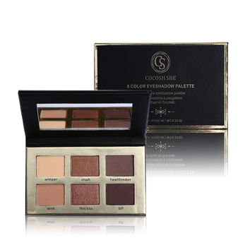 New Brand Cosmetics 6 Color Matte Natural Eye Shadow Palette Naked EyeShadow Nude Eyelid Waterproof Makeup with Mirror