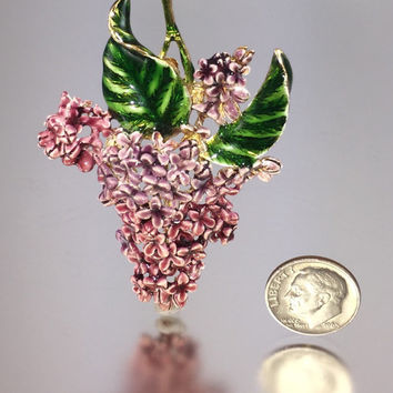 Vintage Enameled Lilac Blossom Brooch - MFA Museum of Fine Arts, Boston Art in Bloom Special Edition