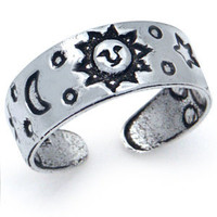 Sun Moon Star 925 Sterling Silver Adjustable Toe Ring TR2059120.0001 SilverShake.com