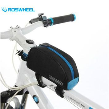 Roswheel 600D Polyester PVC Outdoor MTB Road Bike Cycling Bicycle Frame Pannier Front Tube Package Bike Beam Saddle Bag