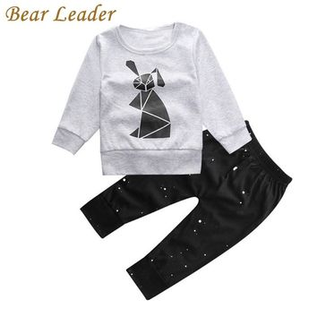 Bear Leader Baby Boys Clothing Sets Autumn Baby Clothes Rabbit Printing T-shirt+pants Baby clothing set Long Sleeve Baby Set