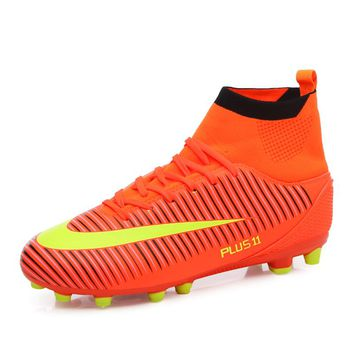 New Arrival Men Soccer Cleats Shoes Professional Outdoor Futsal Football Boots TF/FG High Ankle Soccer Training Sports Sneakers