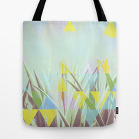 Triangle Cactus Tote Bag by Metron
