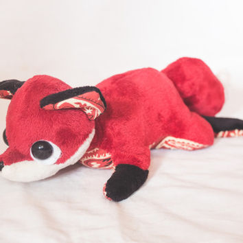 Fox Plushie - Handmade Soft Toy - Custom Choose Your Own Colours and Fabrics.