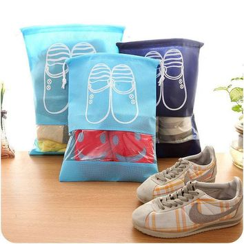 ICIK272 Travel Storage Shoes Bag Portable Drawstring Dustproof Cover Pouch Useful Travel Accessories