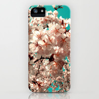 cherry blossom III iPhone Case by Blackpool | Society6