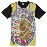 Basketball - Extreme Dunk - Yellow - All-Over-Print T-Shirt