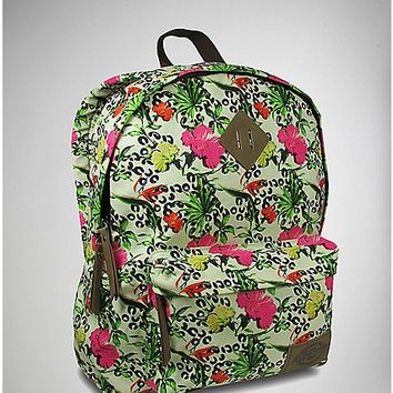 Canvas Tropical Print Backpack - Spencer's