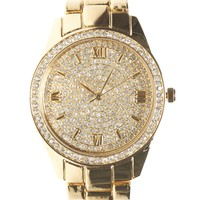 Bling Metal Watch | Wet Seal