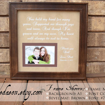 Parent Wedding Gift  - Wedding Gift for parents - Bride parent gift - Groom Parent Gift - Parent Wedding Frame - Mom Dad Wedding Gift, 15x15