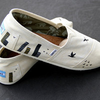 City/Bird TOMS Custom Shoes for Men & Women by ComptonsCreations