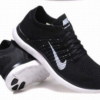 """NIKE"" Net surface breathable sneaker soft-soled running casual shoes Black"