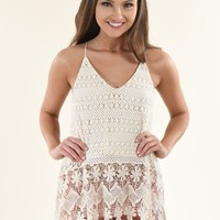 Cream Crochet Top