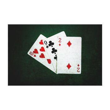 Blackjack 21 point - Ten, Nine, Two Canvas Print