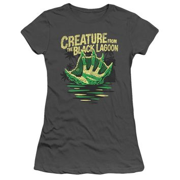 Creature from the Black Lagoon Juniors T-Shirt Hand Charcoal Tee