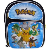 Pokemon Pikachu Black and White Medium Backpack