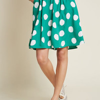 Casual Creativity Pocketed Skirt in Dots