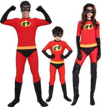 Cool Incredibles 2 Costume Classic Mr and Mrs Incredible Cosplay Outfit Adult Kids Dash Violet Costume Superhero Family Fancy DressAT_93_12