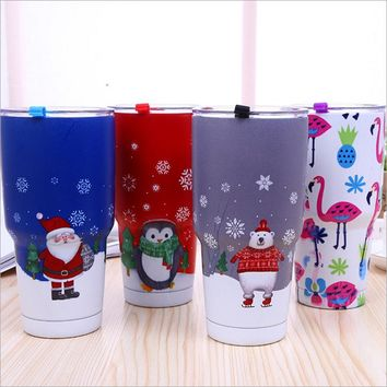 Camouflage Colorful Mugs Bilayer 304 Stainless Steel Insulation Cup 30OZ Cups Cars Beer Mug Large Capacity Mug Tumblerful
