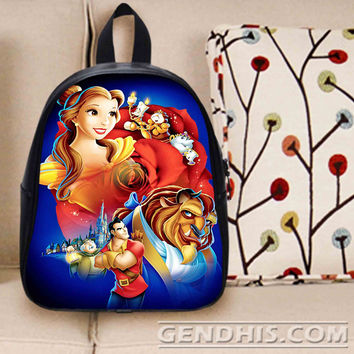 Beauty And The Beast 2 Custom Bag / School Bag / Childrent Bag / Custom School Bag
