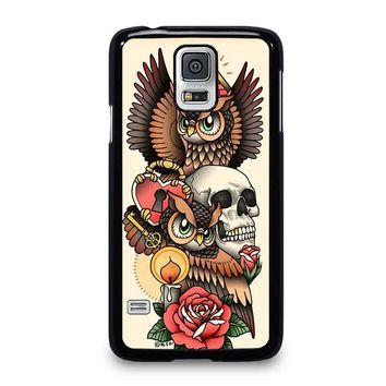OWL STEAMPUNK ILLUMINATI TATTOO Samsung Galaxy S5 Case Cover