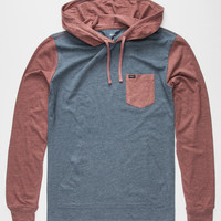 Rvca Set Up Mens Lightweight Hoodie Midnight Blue  In Sizes