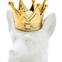 Crowned Fox Head Container
