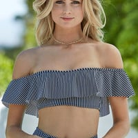 Billabong Gettin Native Stripe Off-The-Shoulder Bikini Top at PacSun.com
