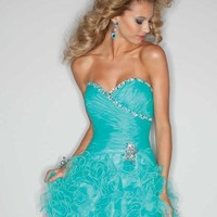 Mori Lee Sticks & Stones Dress 9191 at Peaches Boutique