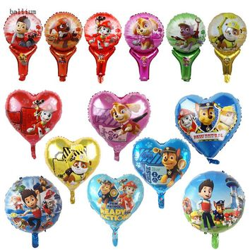 Paw Patrol Foil Balloons  14 style Sky Ryder Hot Cartoon Dog Globos Birthday Party Decorations Kids Toys Chase Marshall Baloon