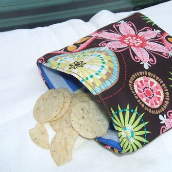 Reusable Snack and Sandwich Bags Carnival Bloom
