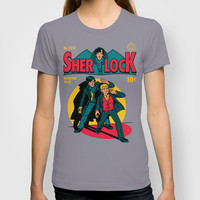 Sherlock Comic T-shirt by Harebrained