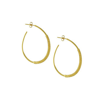 Wired Wrapped Pattern Hoops