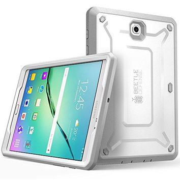 Galaxy Tab S2 8.0 Case, SUPCASE [Heavy Duty] Case for Samsung Galaxy Tab S2 8.0 Tablet [Unicorn Beetle PRO Series] Rugged Hybrid Protective Cover w/ Builtin Screen Protector Bumper (White/Gray)