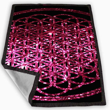 bring me the horizon album pink sparkly glitter Blanket for Kids Blanket, Fleece Blanket Cute and Awesome Blanket for your bedding, Blanket fleece *