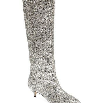 kate spade new york olina glitter knee high boot (Women) | Nordstrom