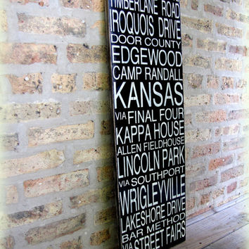 CUSTOM Subway Story SignWooden Distressed by cellardesigns on Etsy