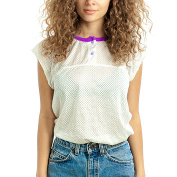 Vintage 90's Lakerette Mesh Top - One Size Fits Many
