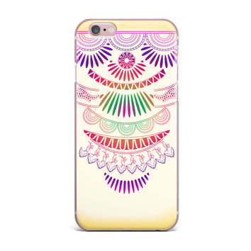 "Famenxt ""Decorative Ornament"" Yellow Multicolor iPhone Case"