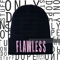 Flawless Beanie Beyonce Embroidered Yonce I Woke Up Like This Watermelon Queen Bey Skully Womens Mens Unisex Flawless Sweatshirt
