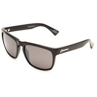 Electric Knoxville Polarized Sunglasses Black Frame Grey Silver Chrome Lenses