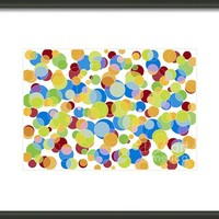 Abstract Color Framed Print By Frank Tschakert