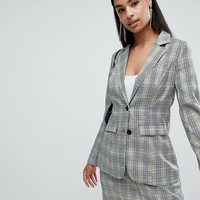 PrettyLittleThing Check Blazer at asos.com