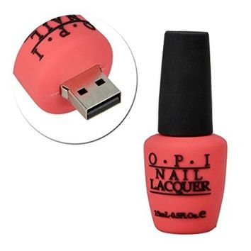 Sunworld Novelty Cute 8GB USB 2.0 Flash Drive Memory Stick Data Storage Backup Device in Nail Polish Bottle Shape Rose