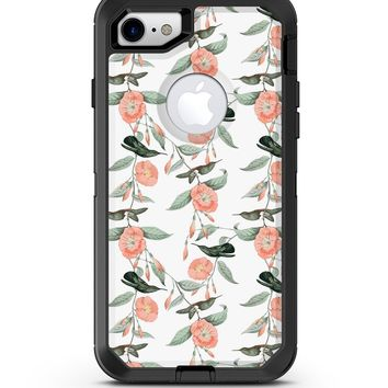 The Coral Flower and Hummingbird All Over Print - iPhone 7 or 8 OtterBox Case & Skin Kits