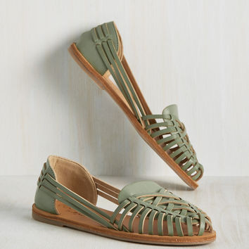 Heart Skipped a Beach Flat in Pistachio | Mod Retro Vintage Flats | ModCloth.com