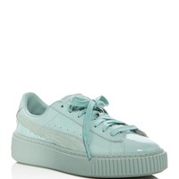 PUMA Basket Patent Lace Up Platform Sneakers | Bloomingdales's