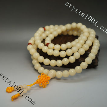 Natural 108 Vajra Bodhi Pipal Tree Seeds Bracelet Buddha Prayer Beads Bracelet 8mm Prayer Beads  Mala Bracelet  Handmade Beads Bracelet.