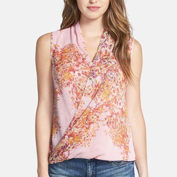 Women's KUT from the Kloth 'Amelie' Floral Print Faux Wrap Top,