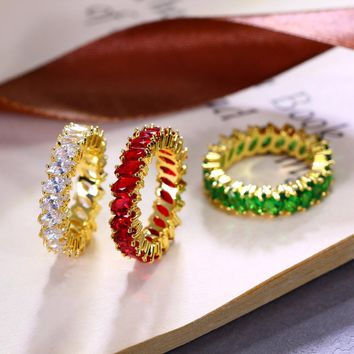 Colorful Crystal Stones Ring